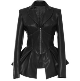 Dark Forest Black Gothic Leather Womens Jacket