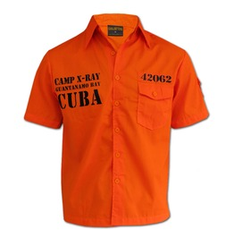 "Guantanamo Bay Cuban Prison ""Worker Shirt"" Chaquetero Men"