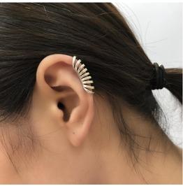 S 925 Sterling Silver Ring Pierced Ear Clip