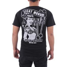 Eight Monday T-shirt Tattoo Retro Vintage Rock Kustom Rockabilly Biker M6