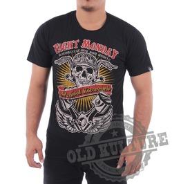 Eight Monday T-shirt Tattoo Retro Vintage Rock Kustom Rockabilly Biker M9