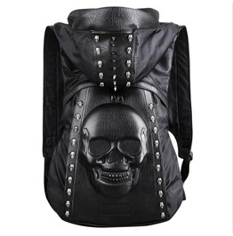 Clothes Hat Taro Rivet Backpack Male Backpack