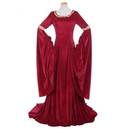 Women's Victorian Medieval Ball Gown Costume