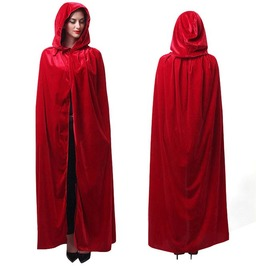 Adult Long Hooded Cloak Witch Halloween Costume