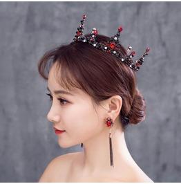 Vintage Wedding Handmade Zircon Crown Headdress