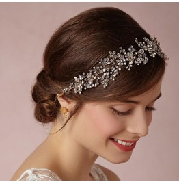 Gold and Silver Crystal Bride's Forehead Hair Accessories Hair Band