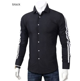Mens long sleeve button down turn down collar slim fit shirt rebelsmarket