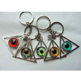 Esoteric All-seeing Eye Providence Keychain, Triangle, Pyramid, Occult, Key