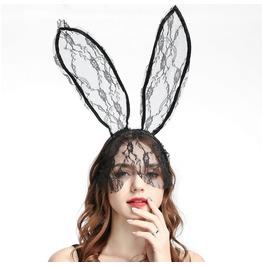 Halloween Lace Rabbit Ears Hair Accessory Headband