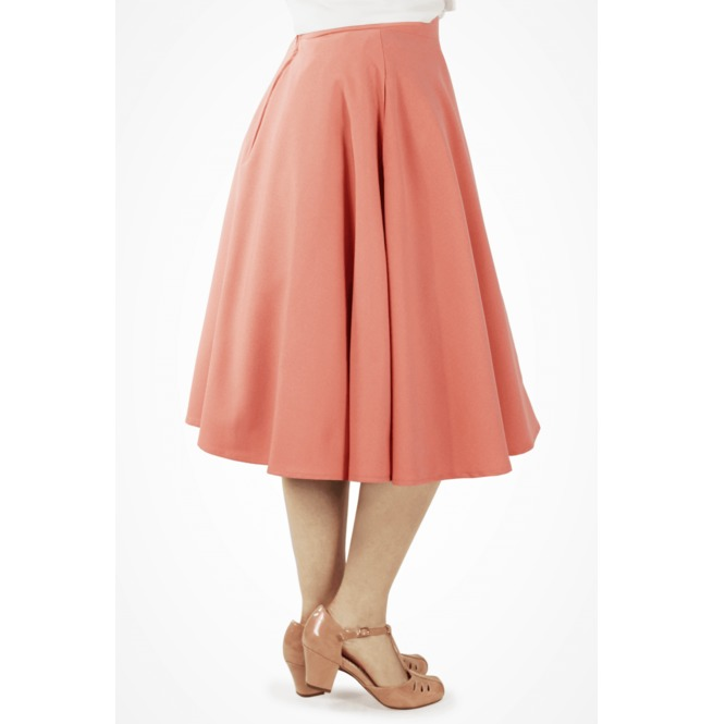 Flowy Pink Skirt With Pockets Extra Small To Three Extra Large