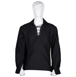 Mens gothic black cotton shirt traditional loose fit style rebelsmarket