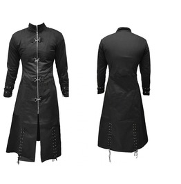 Men Gothic Trench Long Coat Edwardian Cosplay Steampunk Coat