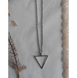 Occult Symbol Water Element Triangle Necklace, Esoteric, Magic, Geometric