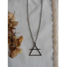 Occult Symbol Air Element Triangle Necklace, Esoteric, Magic, Geometric