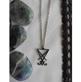 Occult Necklace Sigil Seal of Lucifer, Esoteric, Satan, Satanic, Baphomet