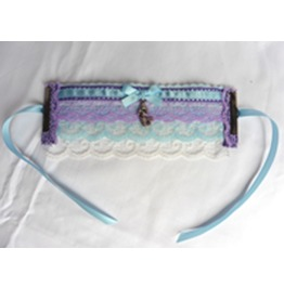 Purple Blue Wedding Mermaid Cuff Bracelet, Elven, Gothic, Pastel, Rainbow