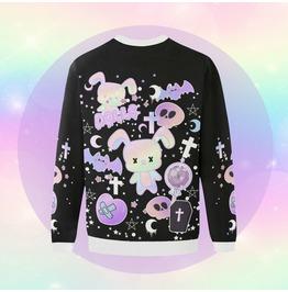 Kawaii Oversized Sweatshirt Clothing Halloween Sweatshirt