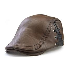 Men's Faux Leather Baseball Hats