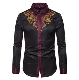 Men's Chinese Style Auspicious Clouds Shirts
