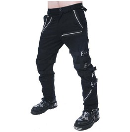 Mens gothic pant dead threads black buckle zips chains straps trousers pant rebelsmarket