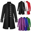 S long sleeved pocket design single breasted long cosplay jacket rebelsmarket