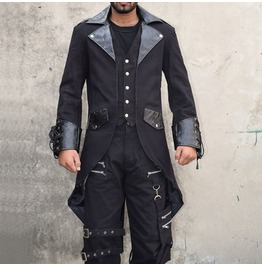 Men Gothic Tailcoat Steampunk Coat