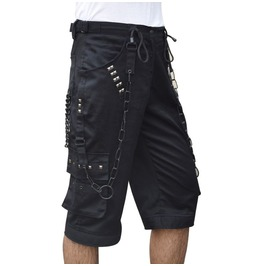 Goth Bondage Men Cyber Black Short