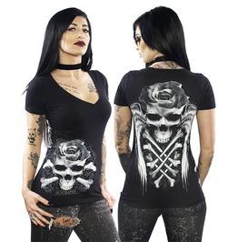 Crossed Skull Women's V-Neck T-Shirt