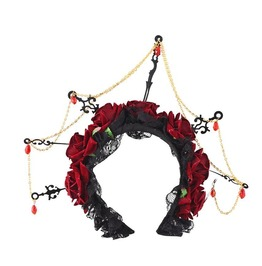 Gothic Red Rose Join Links Chain Headband