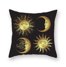 Black Gold Mandala Printed Cushion Covers