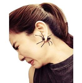 Black Spider Horror Earring