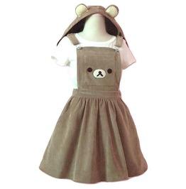 Rilakkuma bear dress with ears hoodie rebelsmarket