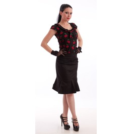 Necessary Evil Damara Retro Tulip Skirt