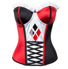 Black Red Cosplay Overbust Corset