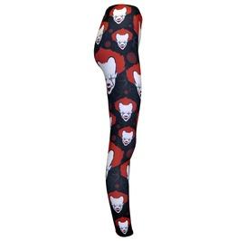 Scary Evil Horror Creepy Clown Joker Blood Leggings Halloween