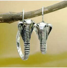 Punk Antique Hoop Snake Earrings