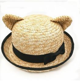 Cat Ears Straw Hat