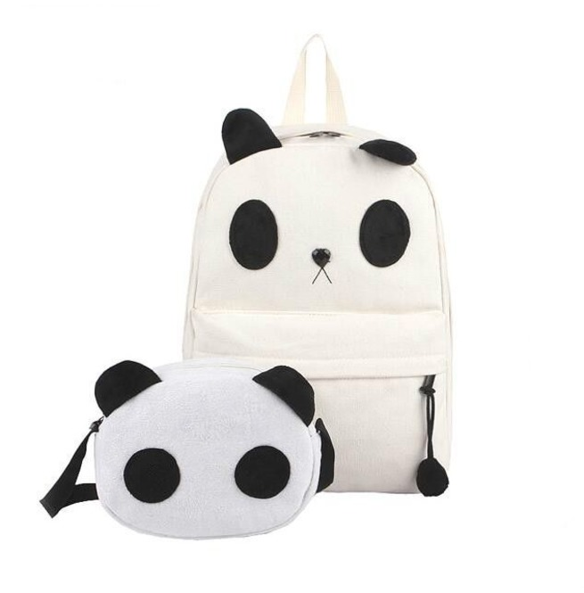 meticulous dyeing processes shop for authentic new items Panda Backpack+Handbag