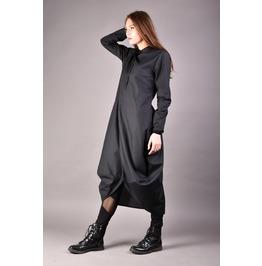 Black Shirt Dress, Maxi Shirt, Black Kaftan, Loose Dress