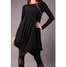 Plus Size Maxi Dress, Oversize Black Dress, Extravagant Casual Dress