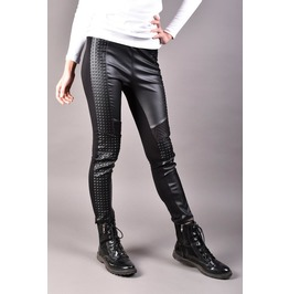 Eco Leather Pants, Women Leggings, Yoga Pants, Plus Size Clothing