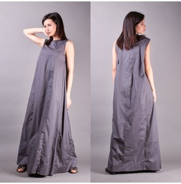 Gray Dress, Long Dress, Minimalist Dress, Maxi Dress, Bohemian Dress
