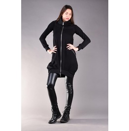 Black Jacket, Womens Jacket, Cotton Jacket, Black Sweatshirt