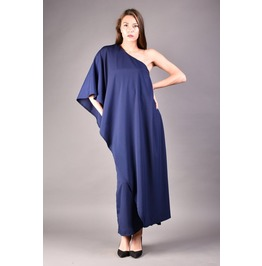 Asymmetrical Dress, One Shoulder Dress, Loose Dress, Long Dress