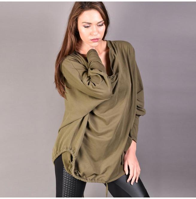 Olive Green Blouse, Loose Top, Plus Size Blouse, Women Blouse