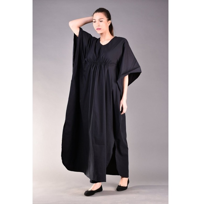 Black Kaftan Dress, Long Black Dress, Plus Size Clothing, Caftan Dress