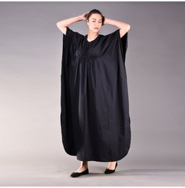 Black Kaftan Dress, Long Black Dress, Plus Size Clothing, Caftan Dress