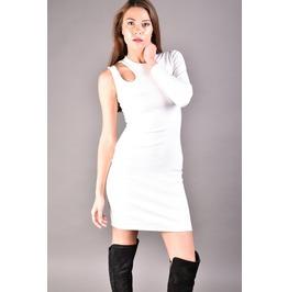 One Shoulder Dress, Off White Dress , Pencil Dress, White Dress