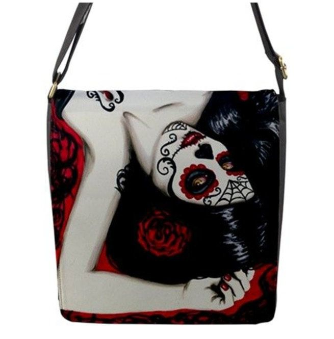 Sugar Skull Day Of The Dead Pin Up Shoulder Bag  9c151ce9c4af4