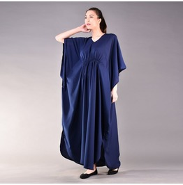 Blue Kaftan Dress, Plus Size Dress, Loose Dress, Maxi Dress